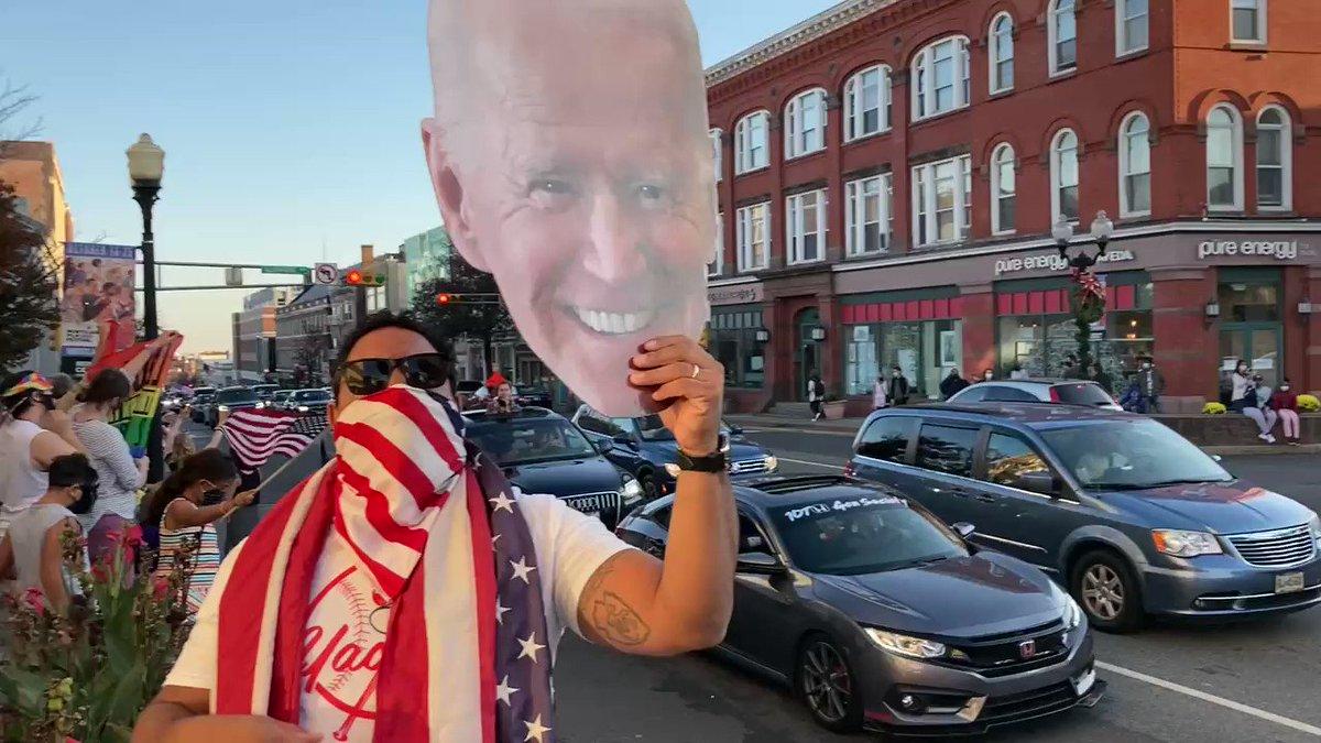 Montclair, NJ showed out for Biden today.