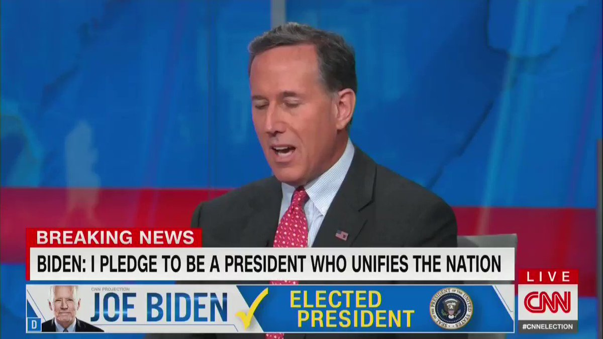"""The president is willing to concede if certain conditions are met,"" says Rick Santorum on CNN, but staying in office is not a choice for Trump. He'll be out of the White House in January https://t.co/cmGx5DBhbj"