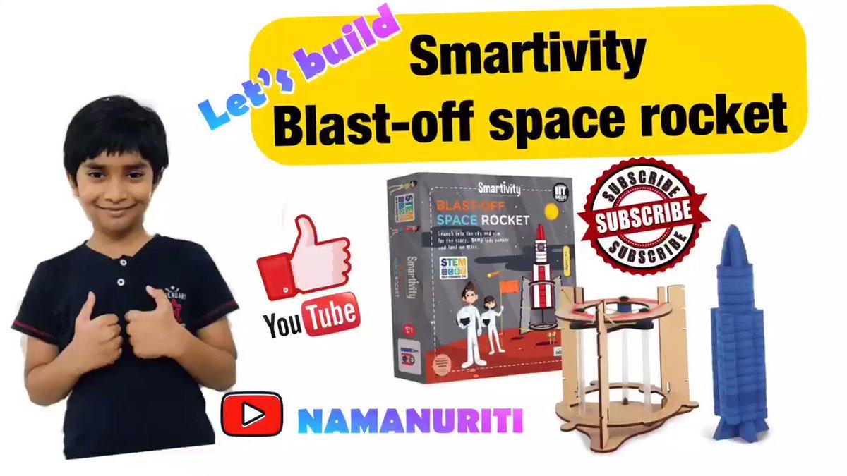 Let's Build Smartivity Blast-Off Space rocket | Educational Kits | How t...  via @YouTube @namanuriti @smartivitylabs #education #DIY #kidslearning #hobby #science