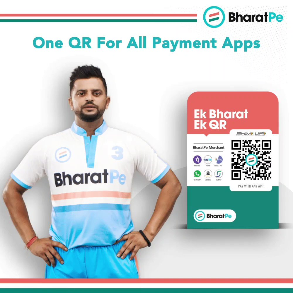 Now accept payments from all apps for FREE. BharatPe QR - Indian QR for Indian businesses. Download Now -->  #TeamBharatPe #BharatPeQR #OneNationOneQR #EkBharatEkQR #sureshraina #rainafans #OneQRforAllPaymentApps #insurance #SafePayments #NPCI #BHIMUPI