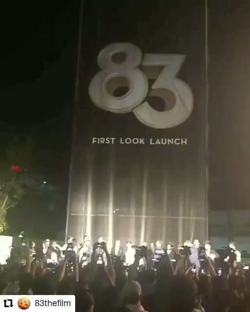 @83thefilm • • • • • • Chennai, India  The moment that every one waited so eagerly for. The first look launch of 83 amidst the shimmers and glitters #83FirstLook #ThisIs83