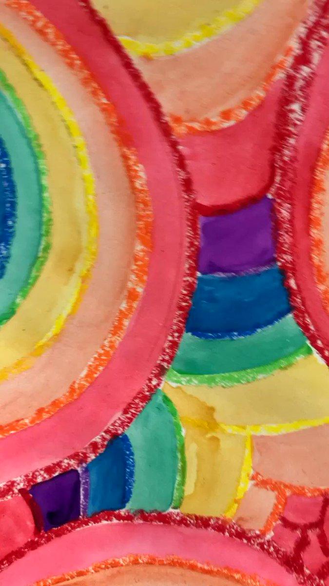 Art Monday's are always so fun with @MrsWallingART 🎨🌈👩🎨@Longbranch_Elem #MISDproud