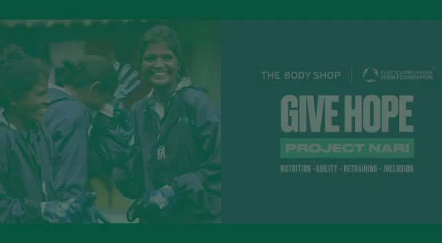 Project NARI, an initiative by @TheBodyShopIND with @Plastics4change . We support our female wastepickers by providing PPE Kits, daily meals, job training to become plastic quality engineers and direct cash transfers #TBSInd #GiveHope #ProjectNari #PlasticsForChange