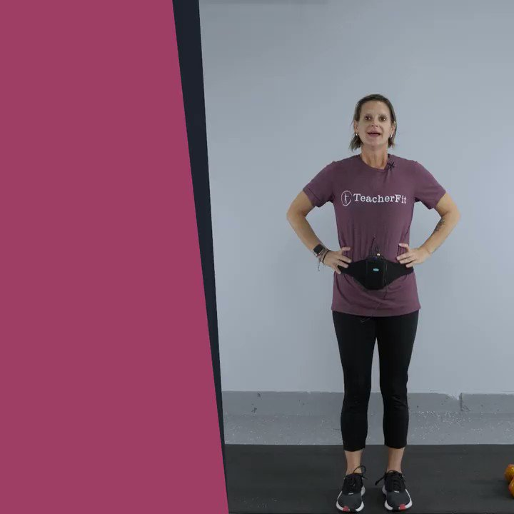 Check out today's dumbbell HIIT workout with Coach Gina. #TeacherFit