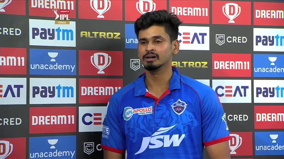 Skipper @ShreyasIyer15 thanks all the @DelhiCapitals fans for their support 🙌🙌   #Dream11IPL