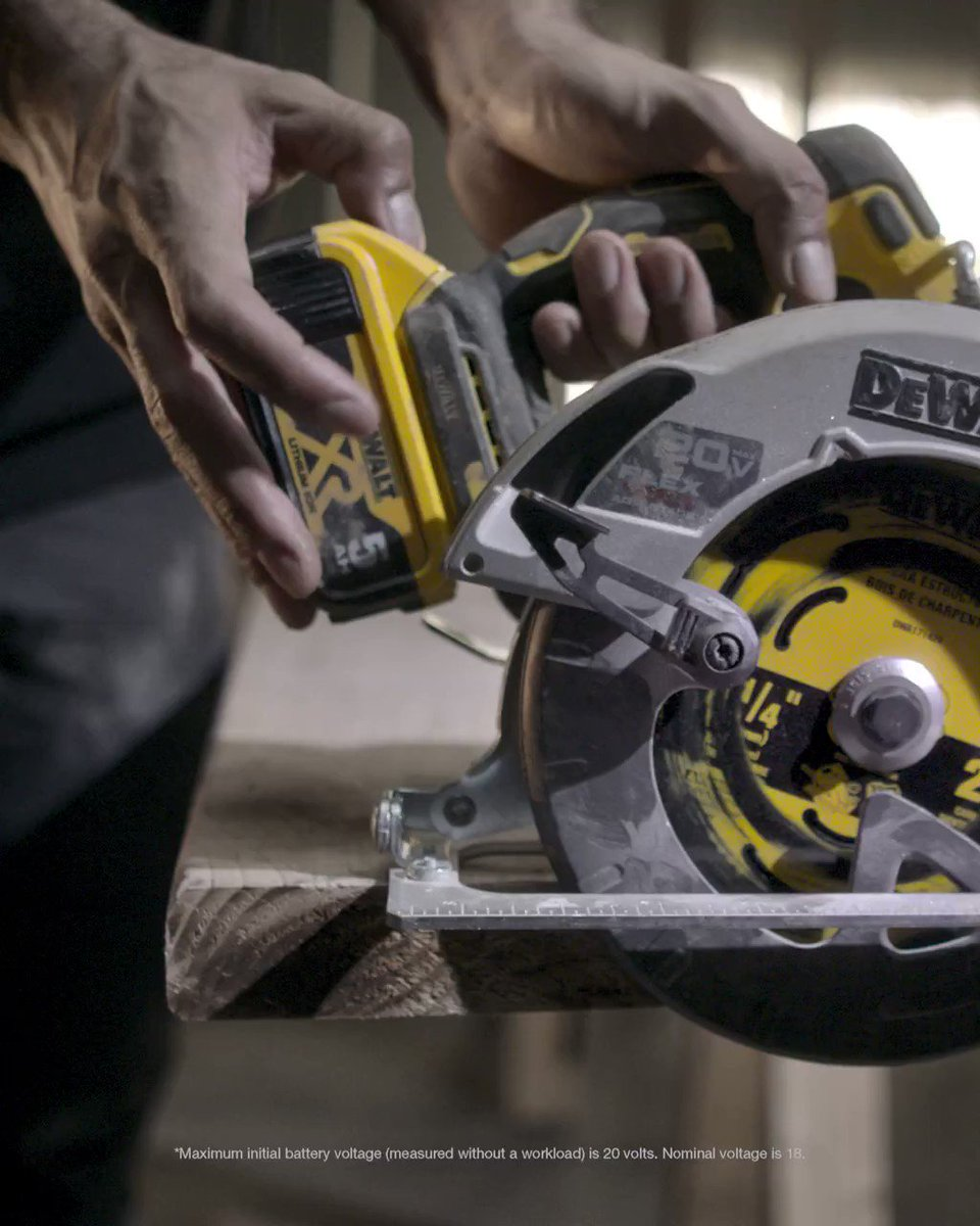 FLEXVOLT ADVANTAGE™ technology adds more power to your 20V MAX* tools. Up to 77% more, to be exact.
