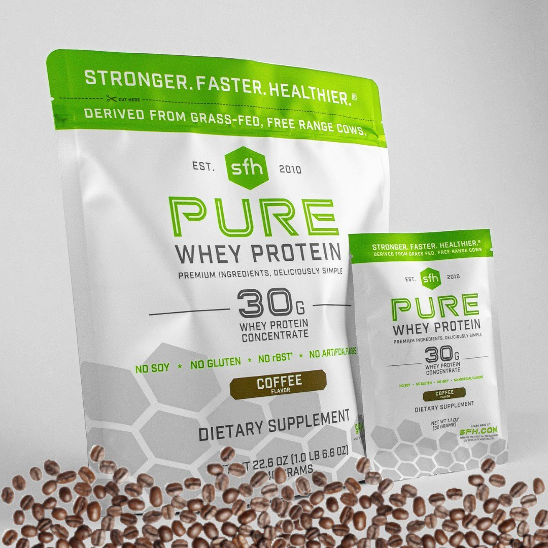 We've been busy brewing our all new COFFE PURE! The original PURE you know and love now in a delicious coffee flavor and new size. Try it now, no brewing necessary:  ☕ 😉   #CoffeeLover #WheyProtein #Protein
