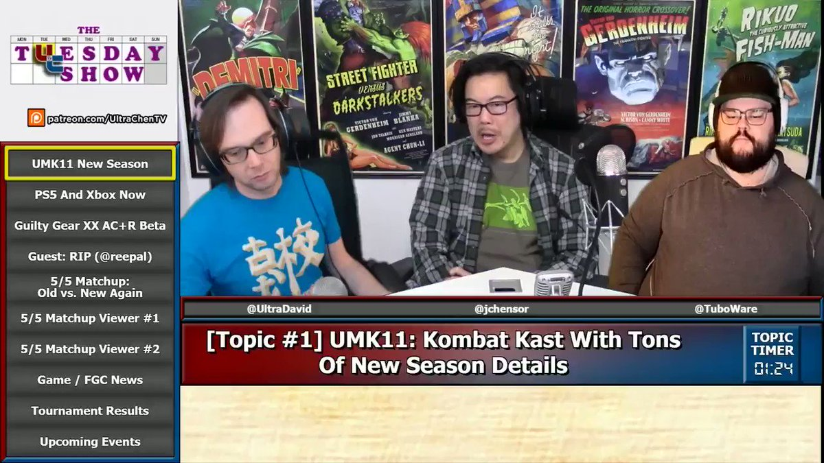 UltraChenTV - On this Tuesday Show, we discussed UMK11's big changes, invited @Reepal on to discuss Tekken 7's big changes, argued about old school vs new school, & more  YouTube  Soundcloud   How will kustom variations impact MK tournaments?