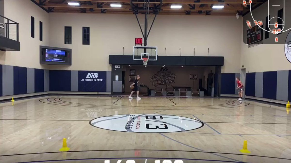 Footage of Nico Mannion going 16/20 (80%) in the 3-Point Star Drill. @P3sportscience conducted a simulated NBA Combine for Mannion in Santa Barbara where he measured a 43 inch max vertical leap, among other impressive athletic testing numbers.