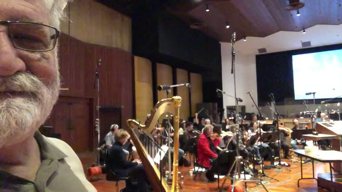 A month before Covid, Julie & Steve Bernstein (composers/conductor) invited me to an #Animaniacs music session in the VERY SAME room at WB the original Looney Tunes were recorded in the '50s. To stand where my childhood was made AND hear a 35 piece orchestra play THIS? LIVE? OMG!
