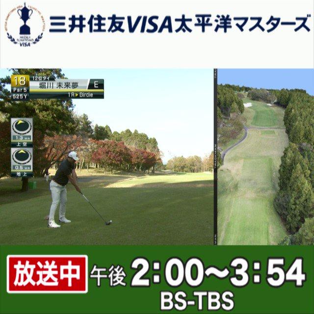 Visa 太平洋 マスターズ 速報