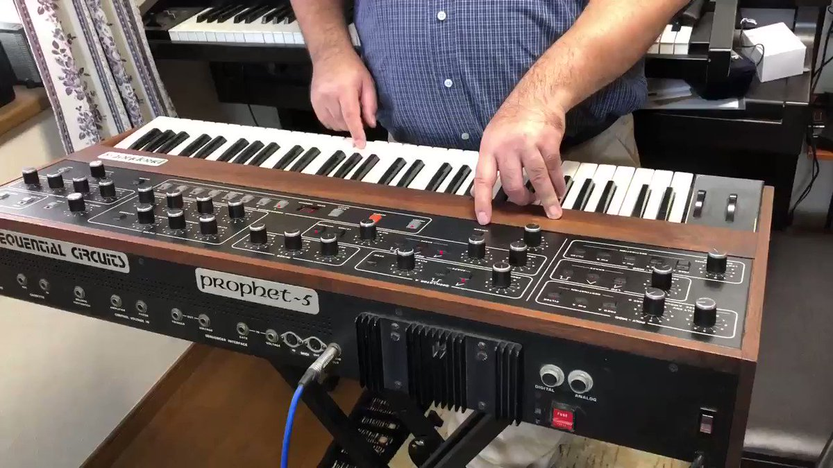 Prophet-5's GLIDE and Unison Prophet-5のグライドとユニゾン 2020/10/28 #prophet5 #synth #synthesizer #instrument #SEQUENTIAL