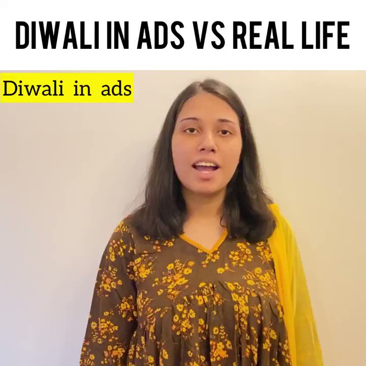 Ads versus reality: #2020WaliDiwali edition, courtesy @salonayyy.