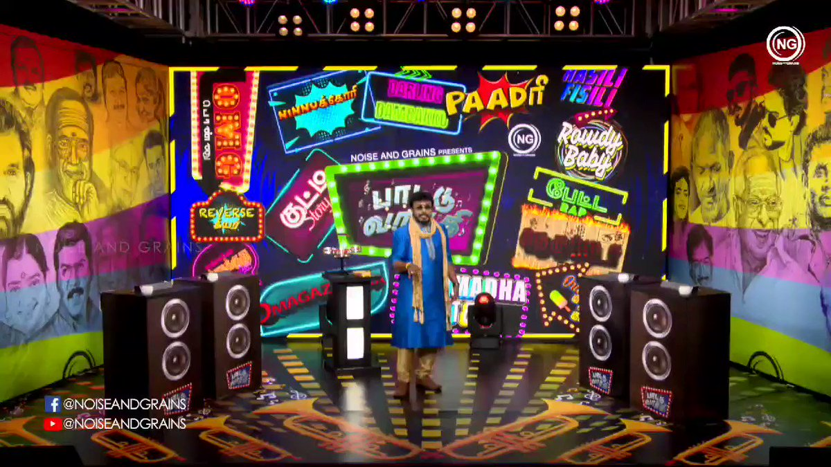#PaattuVaathi   @noiseandgrains coming up with the very first game show for @YouTubeIndia   It was so much fun doing this with the ultimate #Aadhavan   Way to go @DONGLI_JUMBO