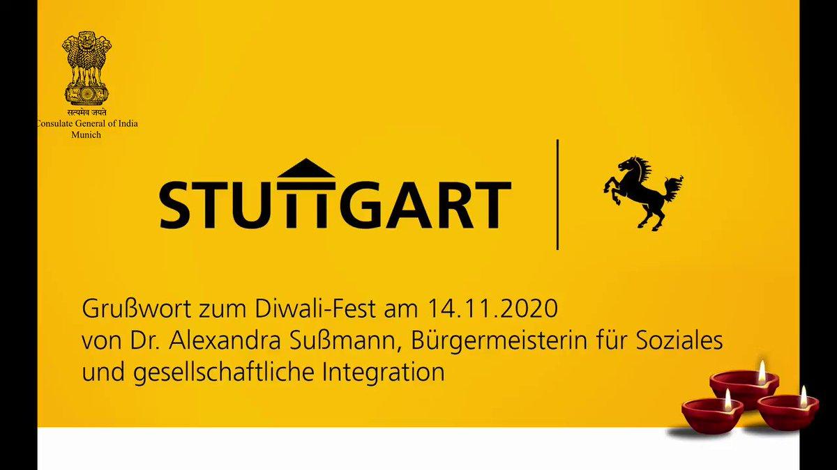 #Diwali message from Hon. Dr. Alexandra Sussmann Deputy Mayor of @stuttgart_stadt  #IndiaGermany #Indien