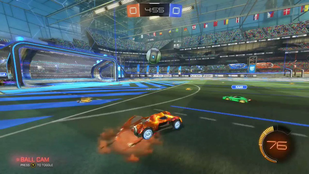 TheKing55JJ - Finally scored a backwards Aerial goal, took a while to perfect it but Im happy with the outcome  and we still lost bruh, welcome to plat 1  #RocketLeague