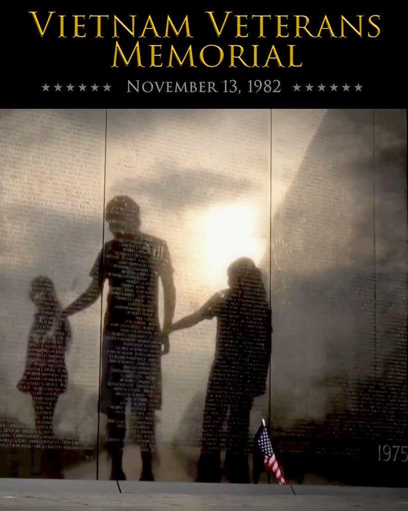 Vietnam Veterans Memorial dedication; a salute to Americans who served in the Vietnam War.