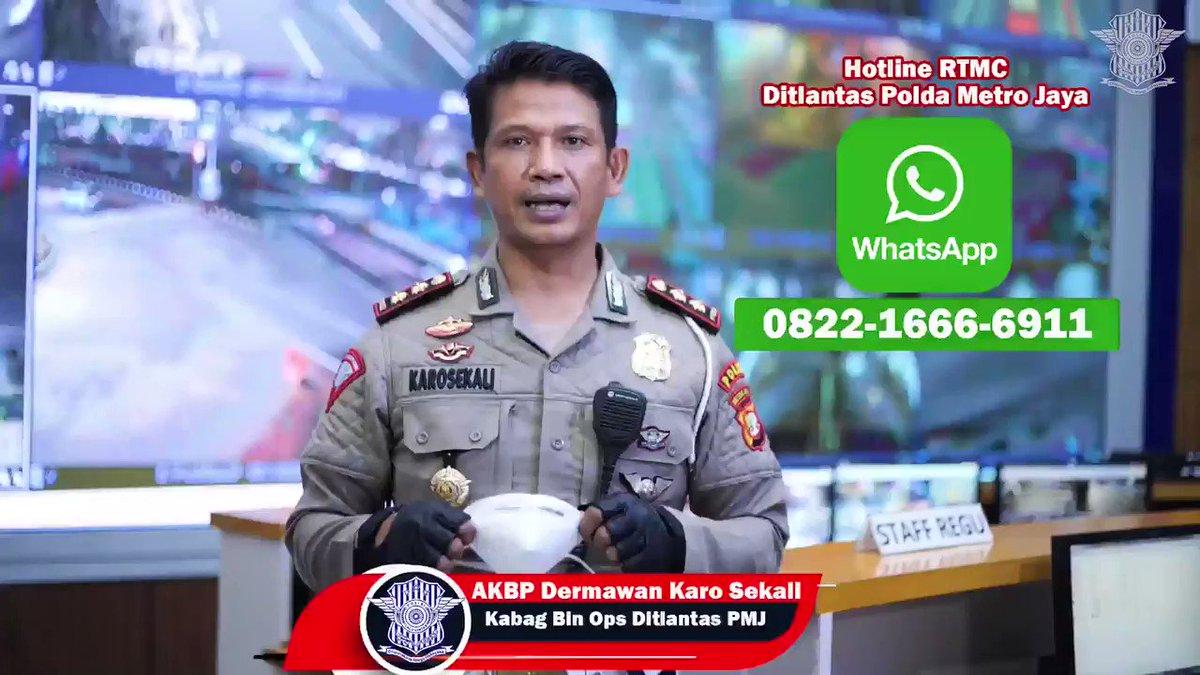 Kami terus memberikan pelayanan terbaik kepada warga masyarakat melalui fitur CCTV Bali Tower yg terintegrasi dgn RTMC dan layanan Hotline RTMC Ditlantas Polda Metro Jaya.