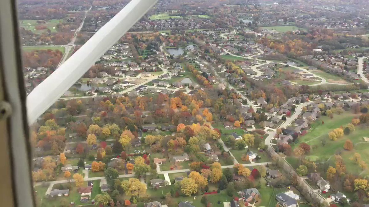Follow the adventures of @karlshowbiz on IG    Flying over #Indianapolis #Fall colors 🍁 #FlashbackFriday #2018 (hear the WHOA!😮 after the dip)