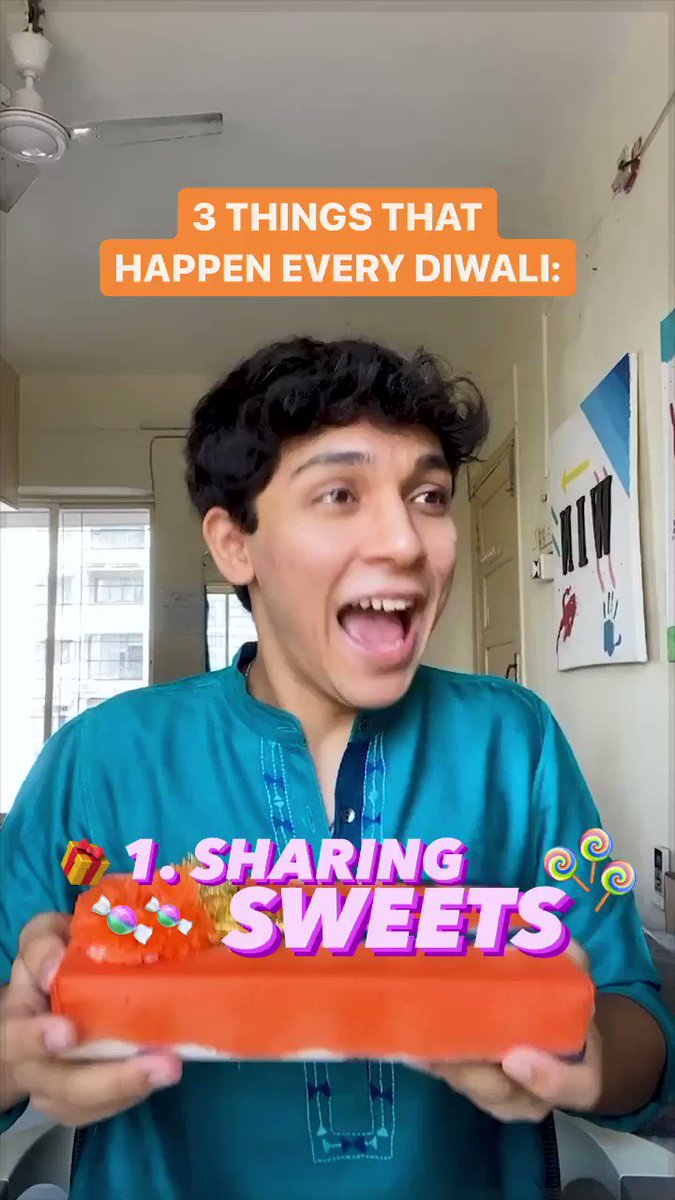 Replying to @instagram: What makes Diwali Diwali, with @agasthyashah1 ❤️😂✨      #ShareYourLight
