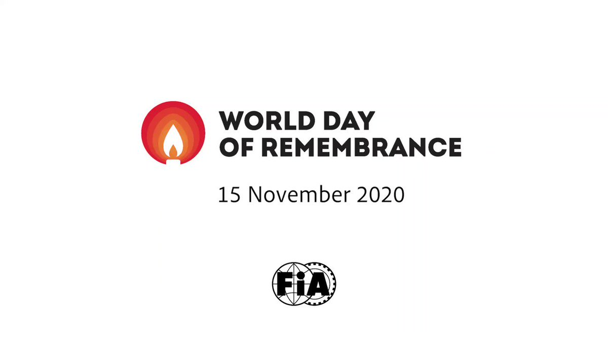 Thanks to all @F1 drivers for supporting the World Day of Remembrance for Road Traffic Victims. With the entire @FIA family, please take a moment to Remember, Support, Act. #WDoR2020 #RoadSafety #RoadVictims @WDRemembrance @FEVRorg @MERSCHJ #F1 #TurkishGP