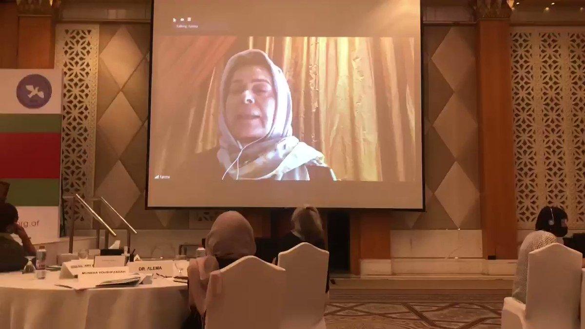 صحبت های «فاطمه گیلانی»عضو هیات مذاکره کننده با طالبان #AfghanPeaceProcess #AfghanWomenPeaceSummit2020
