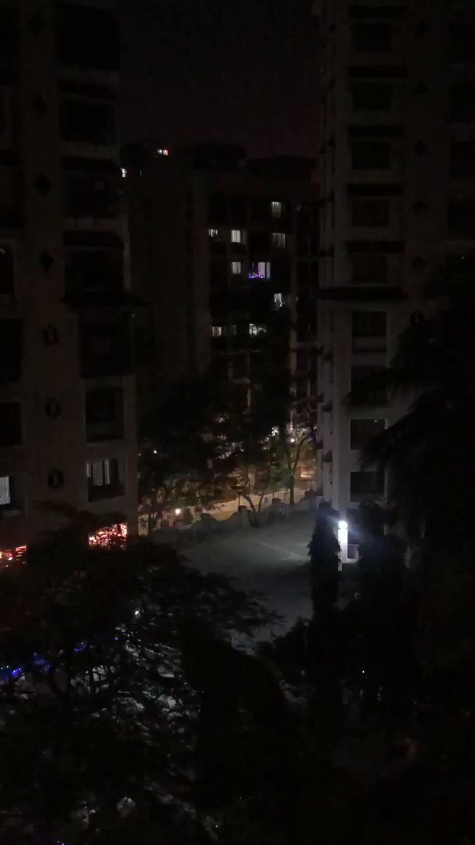This is why we need to ban firecrackers because we are incapable of understanding what mild crackers are. This was the least loud; it was maddening yesterday. The video doesn't do justice to the sound sadly.  @mybmc @MumbaiPolice @CMOMaharashtra @AUThackeray