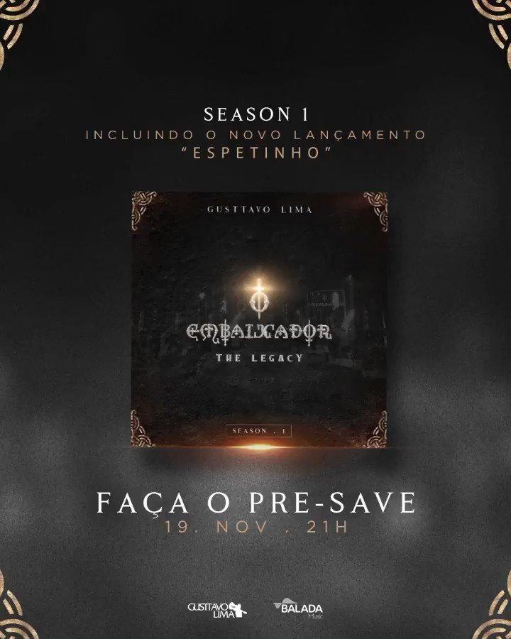 """Quem está acompanhando os lançamentos do meu novo projeto """"O Embaixador The Legacy?"""" Na próxima quinta-feira (19/11), irei soltar o EP.1 do projeto com todas as músicas já lançadas em um só lugar, incluindo a nova faixa """"Espetinho!!"""" Façam o Pre-Save:"""
