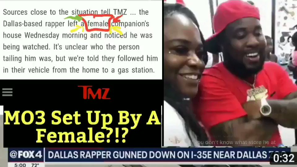 Mo3 set up by the woman he was with ??🤔 #tmz #ripmo3 ( full video on YouTube Wellington Juku  ) #yellabeezy