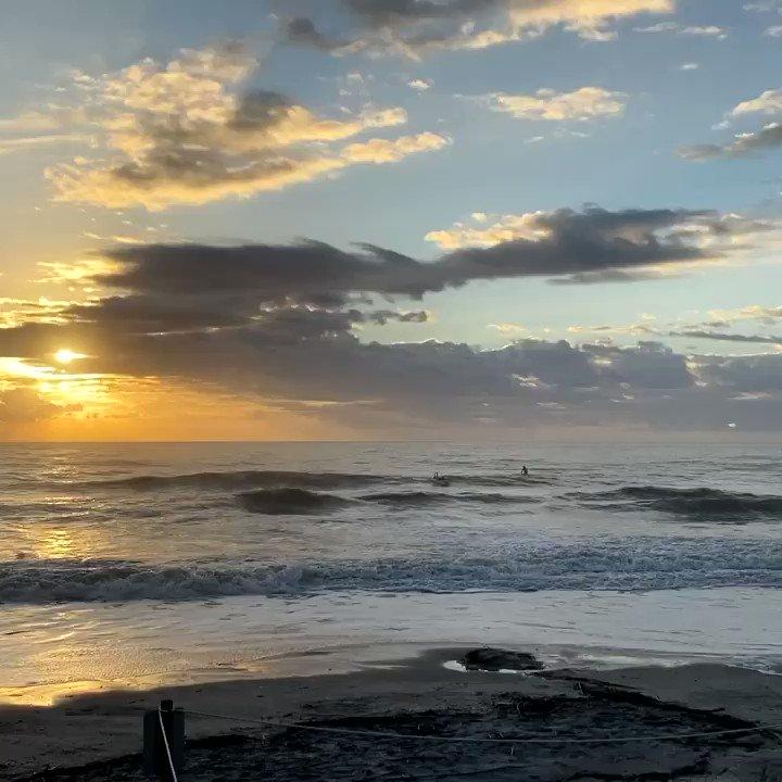 Surfing sunrise in the Carolinas.