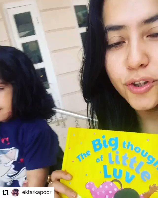 #Repost @ektarkapoor • • • • • • Currently reading: Karan Johar's  #thebigthoughtsoflittleluv   Get your copy on here:   @karanjohar