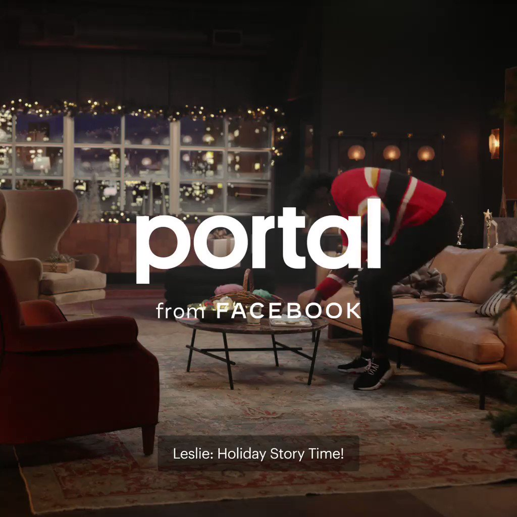 Not sure who's more animated— Leslie, or the story. 🤔 Portal's Story Time brings story book stories to life with AR effects for holiday fun. #PortalTraditions @Lesdoggg