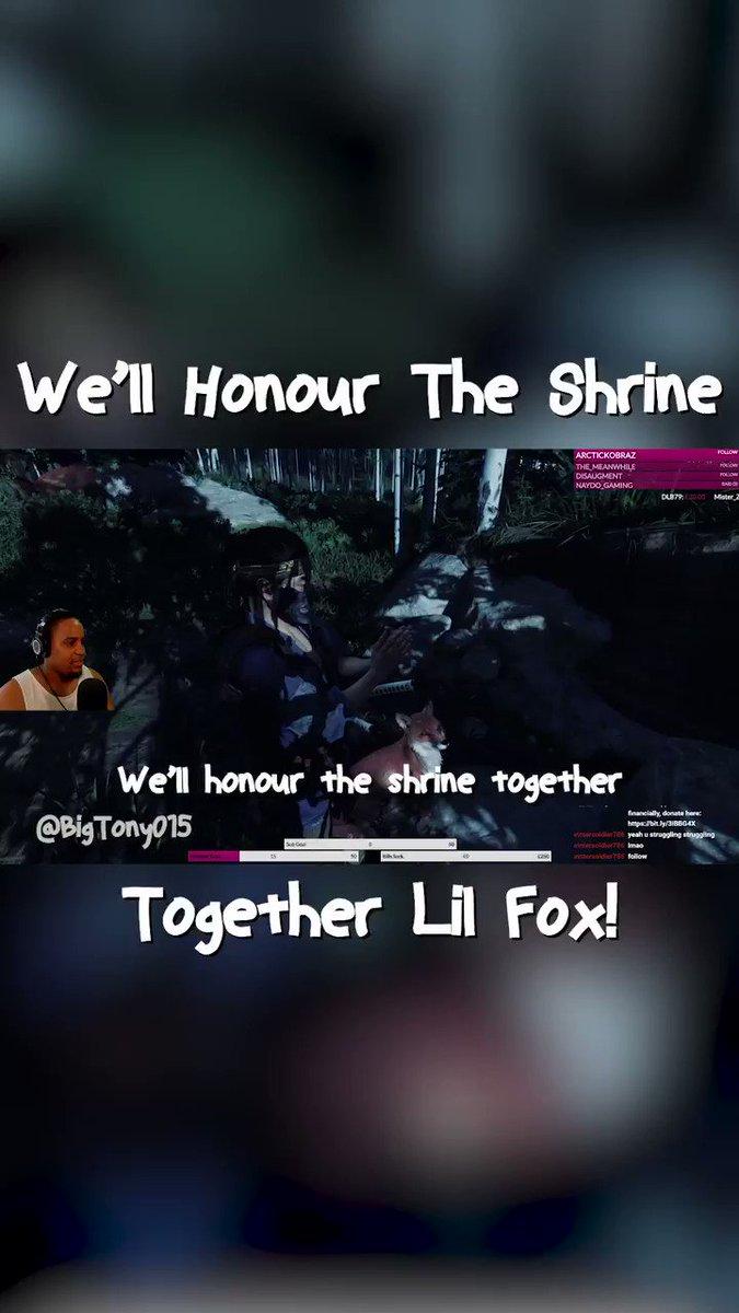 We'll Honour The Shrine Together Lil Fox!  #BigTony #GhostOfTsushima #HonourTheShrine #Fox #LilFox #Shrine #Abandon #WhereDidHeGo #EvilMorty #SadBoi #Sad #SadSeason #Samurai #Ninja #Ghost #Gaming #Gamer #PS4 #PS4Pro #PS4Gamer #PS5 #GamerGirl #Twitch #Stream #BlackStreamer