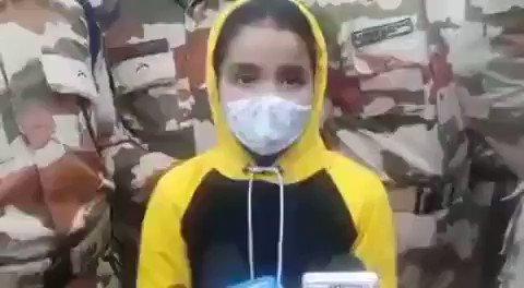 शहीद राकेश डोभाल की  8 साल की बेटी ने अपने पिता के जैसे ही बुलंद हौसलों से वन्देमातरम व भारत माता के जयघोष से दिया संदेश बेटा गरब है हमे आप पर। #भारत_माता_की_जय की जय  #जय_हिंद #राकेश_डोभाल