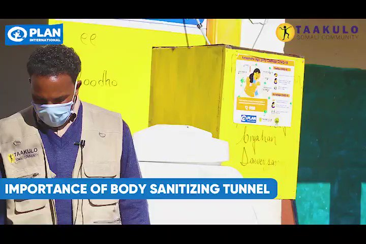 body sanitizer tunnels help to deter the spread of the virus-causing #COVID19. @TaakuloSomali school principals, three schools selected for the COVID19 prevention activities for the installation of body sanitizer tunnels.   @PlanUK #planinternation @decappeal #decappeal