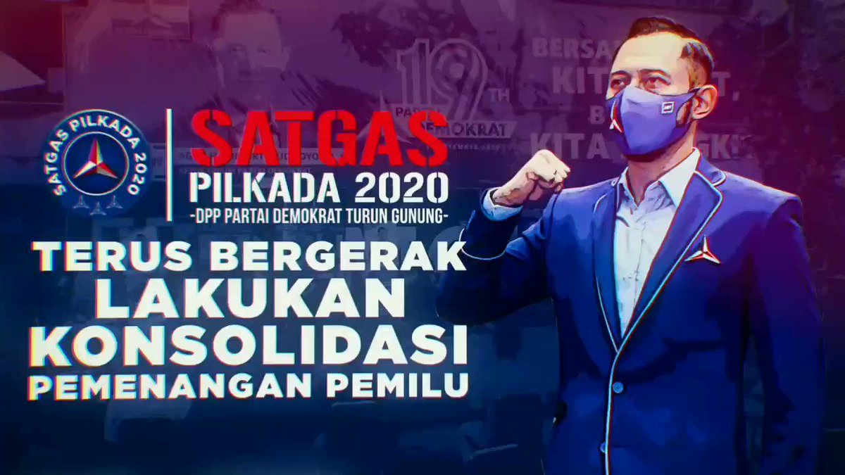 Satgas Pilkada DPP Partai Demokrat terus bergerak lakukan Konsolidasi untuk pemenangan Pilkada 2020 💪🙏👍 #PartaiDemokrat #Pilkada2020 #SatgasPilkadaDemokrat https://t.co/u4Eiyz2vuF