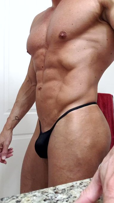 I ate too much tonight,  but this little thong deserves to be seen!  #mensthong #mensswimsuit #mensfitness