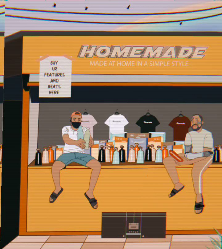 Wake up, wake up.. Wake and bake with #HOMEMADE by @BionicSoulking and I. OUT NOW! Link in my bio. Video Animation : @_BlvckTopia 💫⚡✨