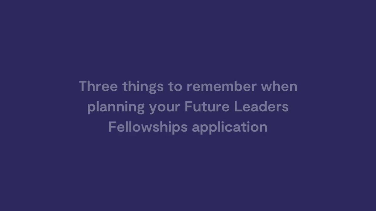Working on your business-based #FutureLeadersFellowship outline proposal? Watch our video for our three top tips when planning your application. Outline proposals are open until 10 December 2020.