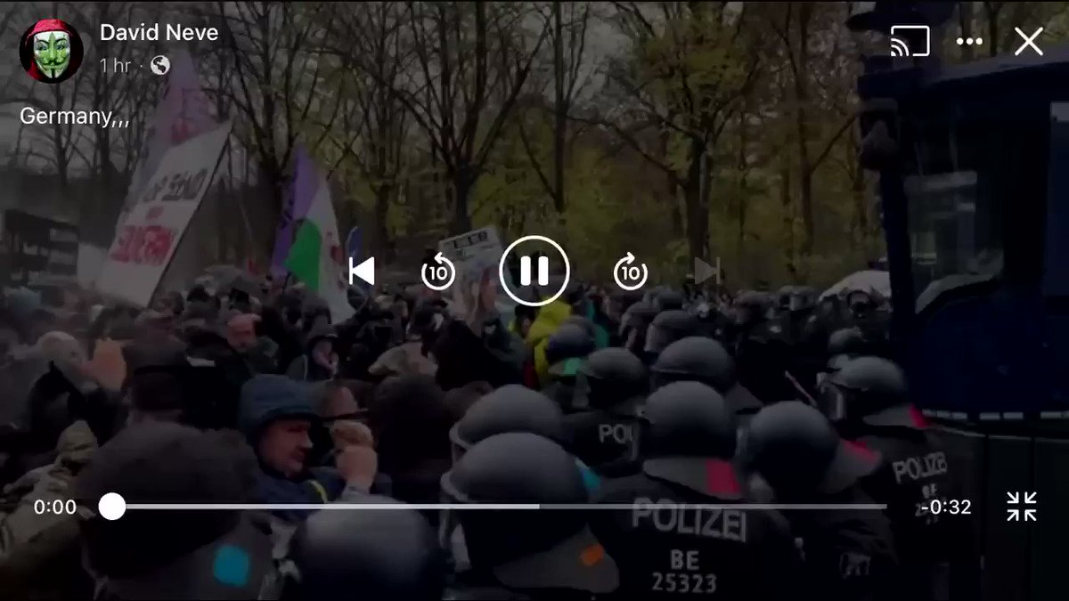 #Germany has fallen. Their government passed a law REMOVING their Constitutional Rights. Police can now enter their homes for any reason. They have lost the right to assemble. It looks like hundreds of thousands are protesting in #Berlin