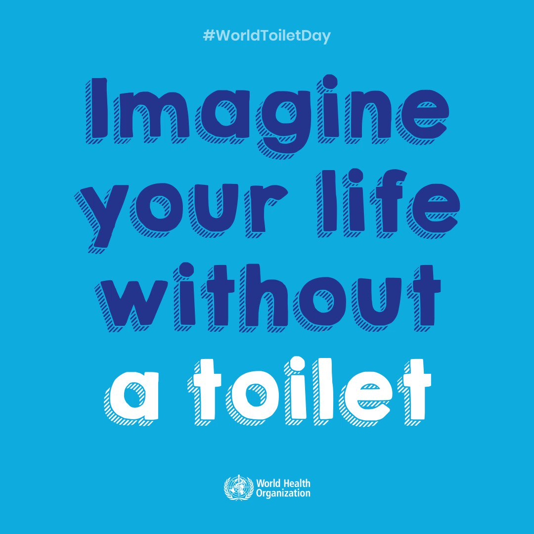 Image for the Tweet beginning: It's #WorldToiletDay🚽!  Stop for a second
