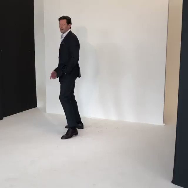 It's even better when Hugh shares some VIDEO from one of his photoshoots, like he did on Instagram. Hugh dancing to Justin Timberlake is definitely a sight for sore eyes! #hughjackman #jt #cantstopthefeeling #benwatts
