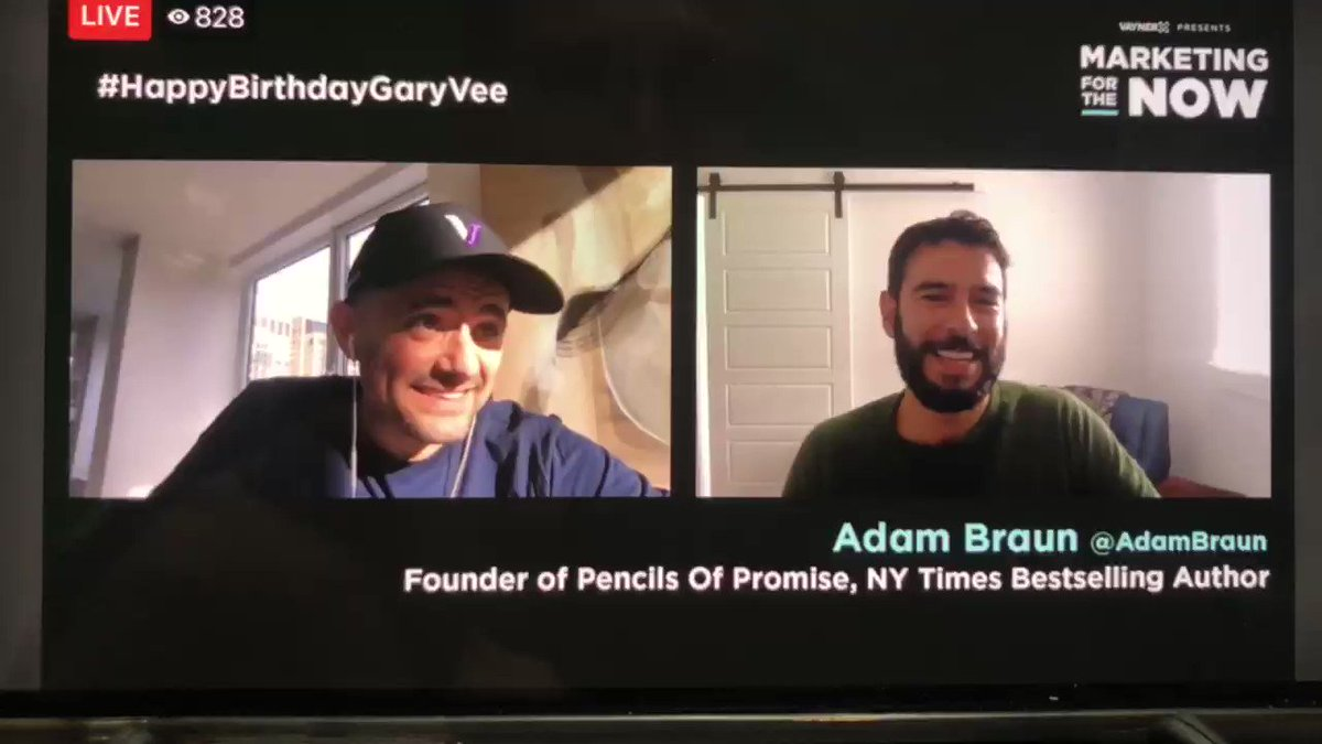 This is an awesome story @garyvee with @AdamBraun from @PencilsOfPromis #happybirthdaygaryvee #Jets story