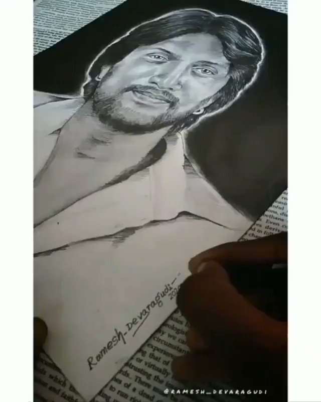 Hllo @KicchaSudeep Sir her in my Village Have a Big Fan and Artists,He Done small Art for u Sir.Plz See and Reply for this Art🖍️🖌️..Sir Waiting for Ur Reply Sir.@KSFA_Official @KSCS_Official @KicchaSudeep @KicchafansKKSFA @kicchapavan123 @iampriya06 @SIKSFA_Official @TeamKiccha
