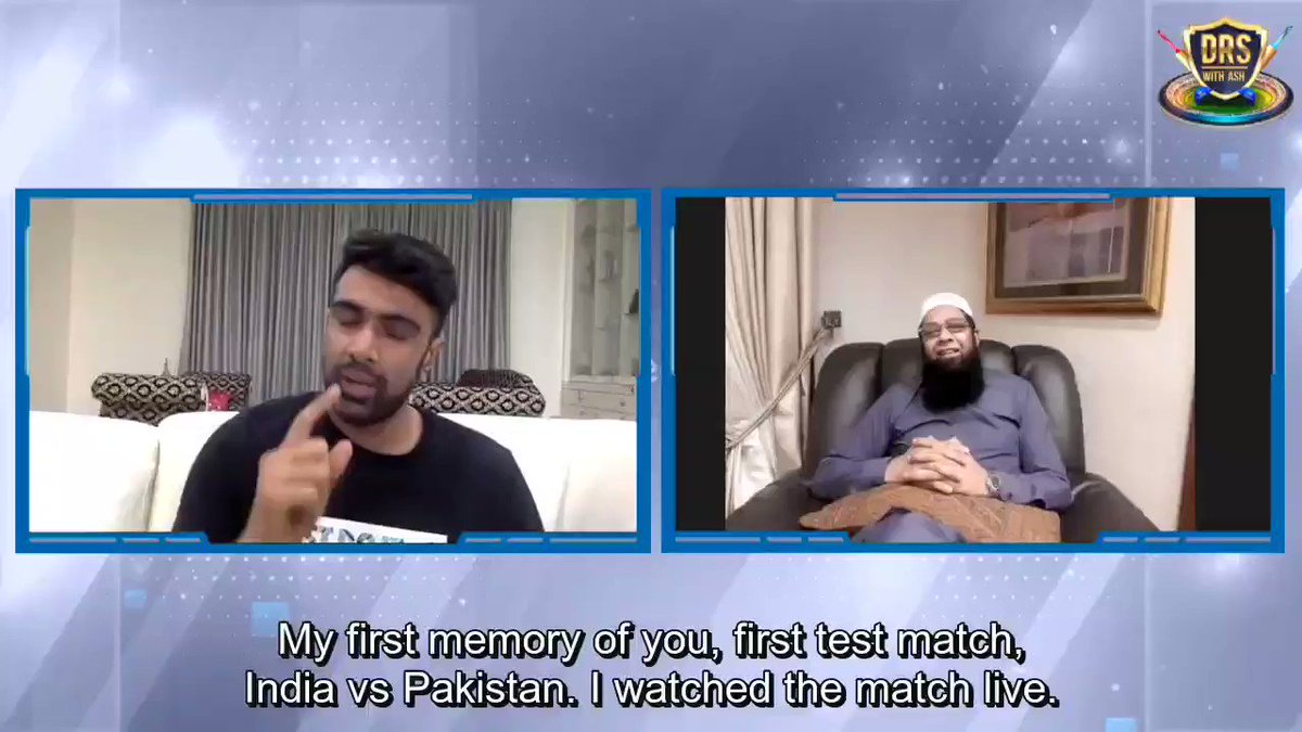 .@ashwinravi99's heart warming chat with @Inzamam08, taking a nostalgic trip down the memory lane discussing 90s cricket, Inzi Bhai's rise as a batsman, 1999 Chepauk Test, Babar Azam, former legends. Superb show, premiers at 12 pm! Do watch! @TalhaAisham