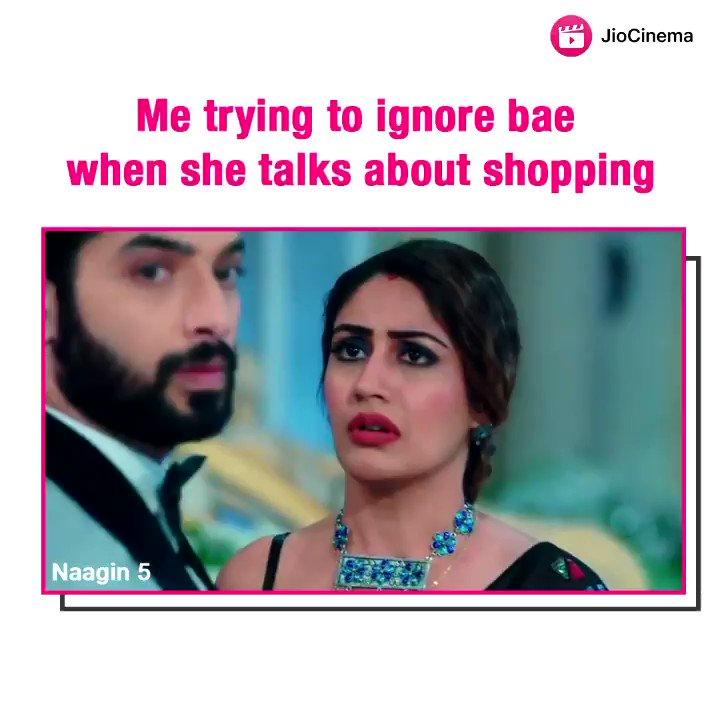 We are NAAgonna lie, but shopping doesn't seem that bad of an option 🤔😶😌  🔁RT if you love them ♥️ #Naagin5onJioCinema  #surbhichandna #sharadmalhotra #naagin #Naagin5 #fridaythoughts #fridayvibes #fridaymood @SurbhiChandna