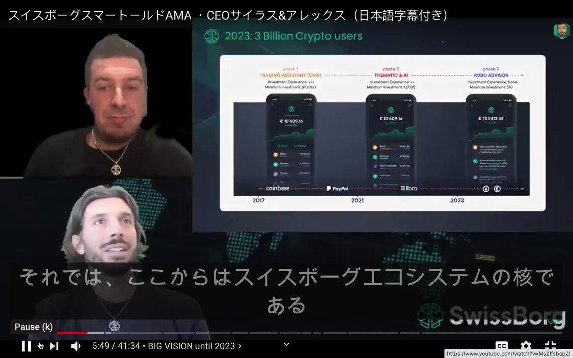 先日のSwissborgスマートイールドAMA with Cyrus and Alex の書き起こしに加えて、動画にも日本語訳をつけました。まだ、ご確認頂けていな方は👉・CHSBの新しいユティリティとしてスマートイールドが実装・CHSBのエコシステム(プレミアムメンバーシップの確認)