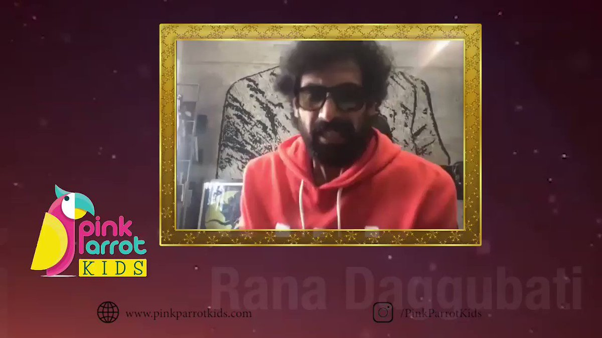 Thank u @ranadaggubati for ur encouraging words & for #PinkParrotKids. It's our goal to bring out the creativity of young minds! Our range of doodle products are washable & made of 100 cotton!     #SidK #ranadagubatti  #creativity