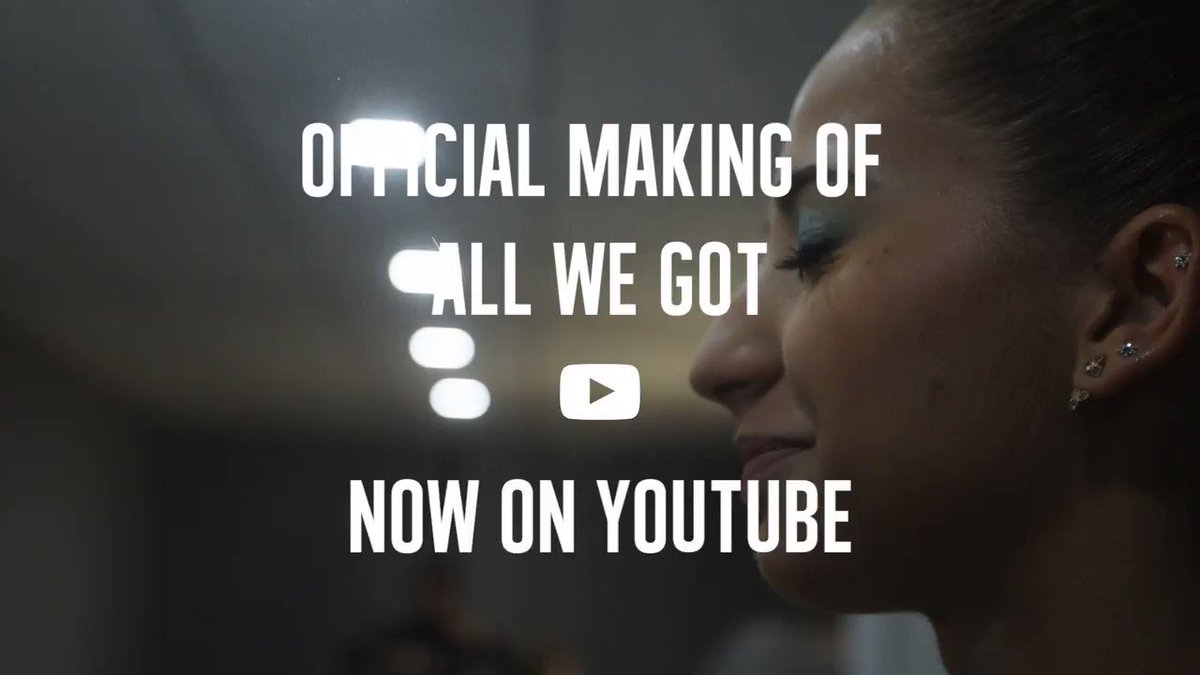 Thanks to the amazing crew that made this video happen 🙌 Have a look at the making of video:  #AllWeGot