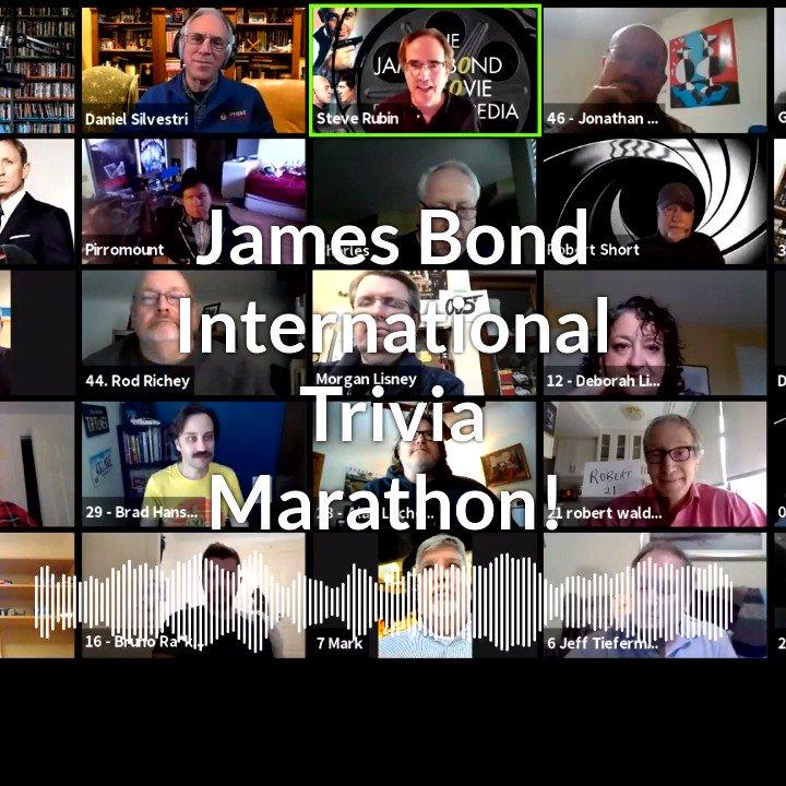 #JamesBond International Trivia Marathon - in under an hour! How many questions can you answer?  #StevenJayRubin hosts! Listen of fav app, or:   #JamesBond #JamesBondTrivia #Trivia #SpyMovieTrivia #MovieTrivia #BondCommunity #BondJamesBond #JamesBondMovies
